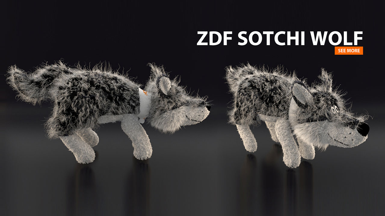 ZDF Sotchi Wolf | 3D-Character-Animation